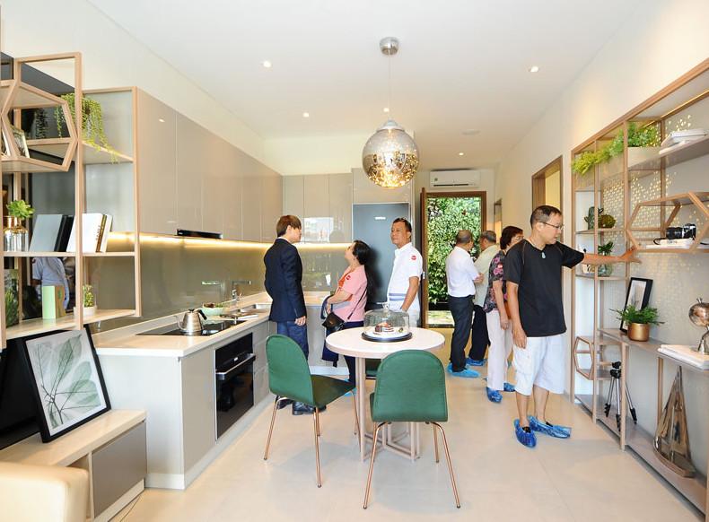 khu bếp tại căn hộ River Panorama